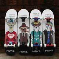 Professional Canadian Maple 4 Wheels Double Rocker Skateboard 31 Inch Long Skate Board Graffiti Style Highway Skateboard