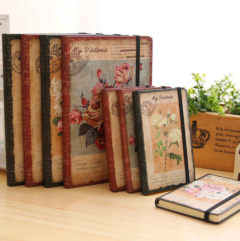 2017 Creative Dream Flower Diary Book School Notebook Vintage European Student Planner Line Page Gift Stationery Hard Notepad creative flip book page led nightlight