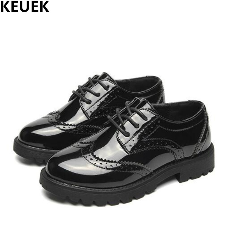 New Spring Autumn Black Children Single Shoes Boys Girls Leather Shoes Student Breathable British Flats Kids Dress Shoes 03New Spring Autumn Black Children Single Shoes Boys Girls Leather Shoes Student Breathable British Flats Kids Dress Shoes 03