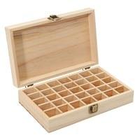 Wooden Storage Box 1pc Carry Organizer Storage Box Essential Oil Bottles Aromatherapy Container Metal Lock Jewelry