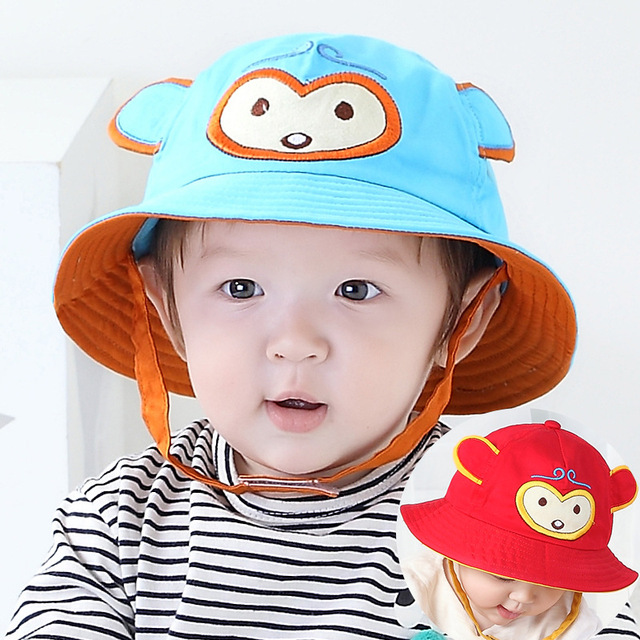 2017 Toddler Infant Sun Hat Baby Cap Newborn Photography Props Spring Summer  Outdoor Wide Brim Baby 697806e99184