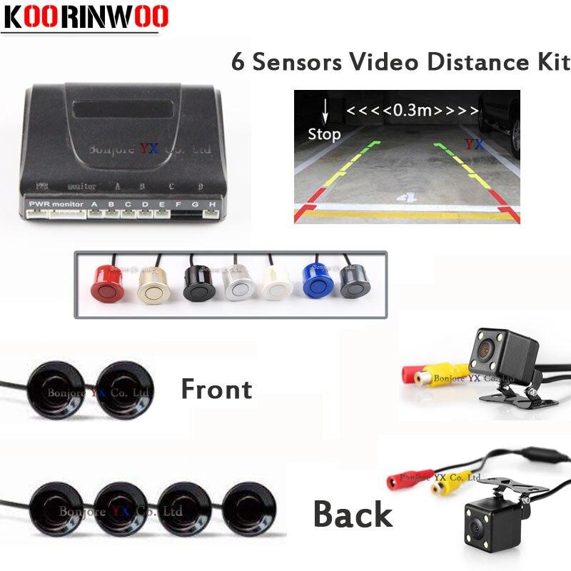 3 in 1 Dual Core CPU Car Parking Assistance Sensor Reversing Radar Video CCD Car Front camera Car Rear voew camera Parkronics