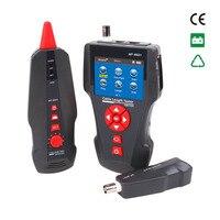 NOYAFA Многофункциональный тестер сетевого кабеля ЖК дисплей измеритель длины кабеля тестер точки останова RJ45 телефонная линия проверки ЕС С