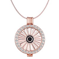 Holder Vintage Crystal 33mm Coin Locket Necklace Jewelry Interchangeable Fan Shaped Jewelry My Coin Necklace