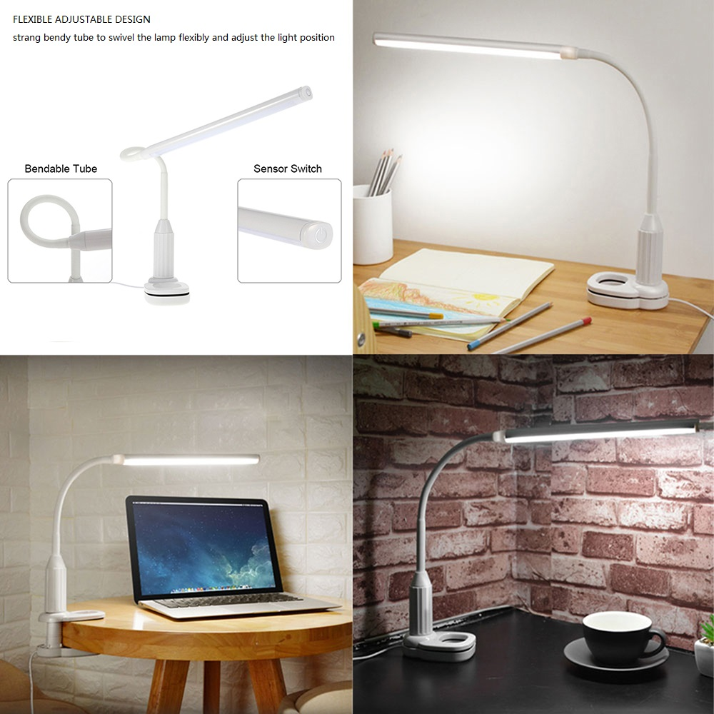Study Table Light Us 12 05 31 Off Eye Protect Led Table Lamp Study Desk Lamp Clamp Clip Light Office Stepless Dimmable Bendable Usb Touch Switch Sensor Control In