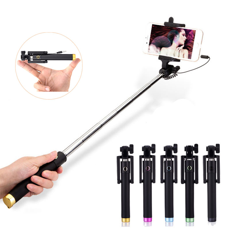 universal wired selfie stick extendable handheld monopod for iphone 5s 6 samsung huawei p8 lite. Black Bedroom Furniture Sets. Home Design Ideas