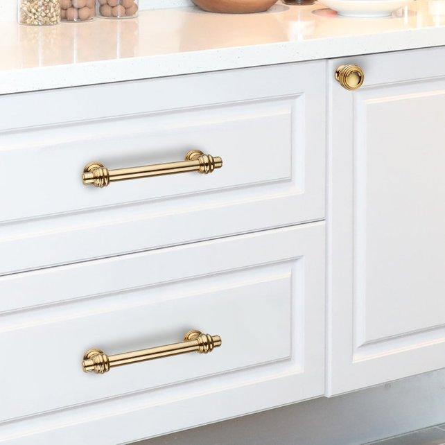 Polished Gold Dresser Handles