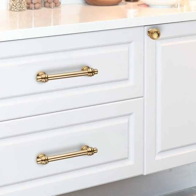 3 75'' 5'' 6 3'' Polished Gold Dresser Handles Drawer Knob Pull Handle  Kitchen Cabinet Pulls Door Handles Knobs Ornate Hardware