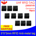 UHF RFID Анти метка 915 МГц 868 МГц Alien Higgs3 EPC 10 шт. Бесплатная доставка 5*5*3 мм очень маленькие квадратные керамические пассивные RFID метки
