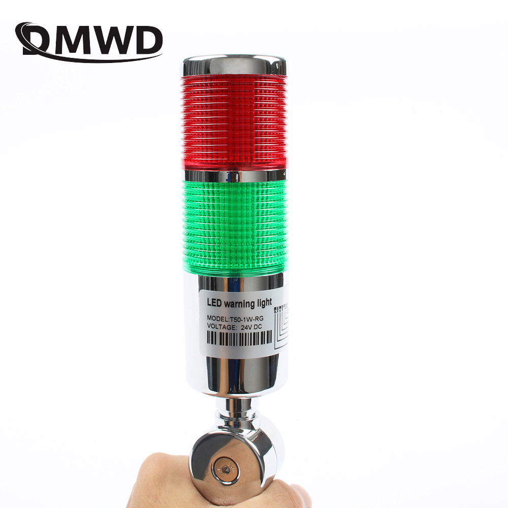 LTA Industrial Multilayer Stack Light  Lamp Signal Tower Alarm Caution Light Flash Industrial Tower Red Green LED Sliver 12V 24V