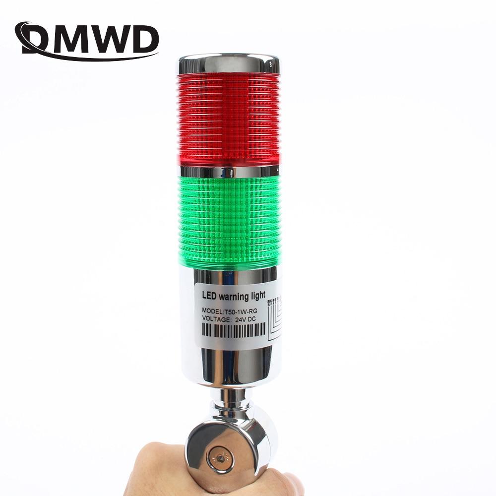 LTA Industrial Multilayer Stack Light  Lamp Signal Tower Alarm Caution Light Flash Industrial Tower Red Green LED Sliver 12V 24V