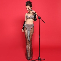 New Fashion Multicolor Leopard Printing Women Sexy Ds Dance Night Costume Dj Female Singer Bar Stage Wear Show Jazz Clothes Set