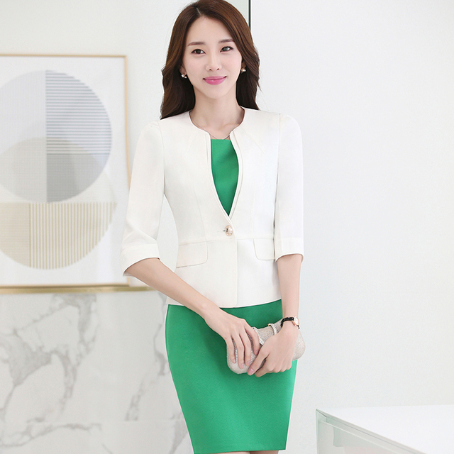 Fashion Women Professional Lady Dress Suit For Office Business Work