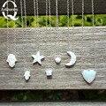 ¡ Promoción! Hamsa opal bola cubo Corazón estrella de la Luna Ópalo Hamsa Collar Blanco Opal collar de La Joyería para las mujeres de la muchacha