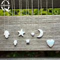 Promotion ! Hamsa opal ball cube Heart Moon star Opal Hamsa Necklace White Opal Jewelry necklace for women girl