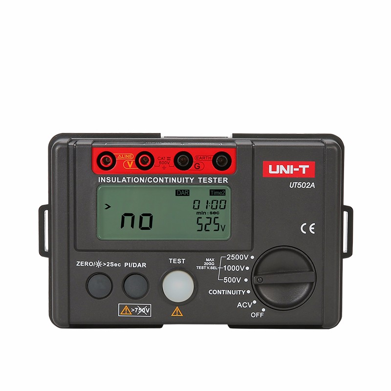 UNI-T UT502A 2500V Insulation Resistance Testers Megohmmeter Voltmeter Continuity Tester megger w/LCD Backlight Diagnostic-tools