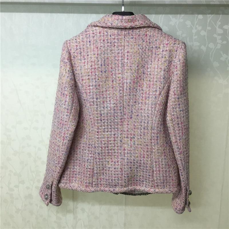 Poitrine Outwear A Qualité Unique Pour Femmes Les 2019 Haute Manteau ligne Mélanges Mode Solide Rose Nouveautés 7PASxqwF