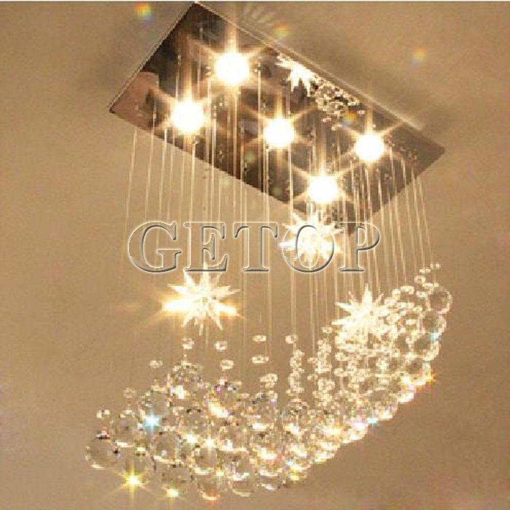 Z moderne led crystal lamp grote kroonluchter verlichting lustre rechthoekige plafondlamp voor restaurant livingroom slaapkamer