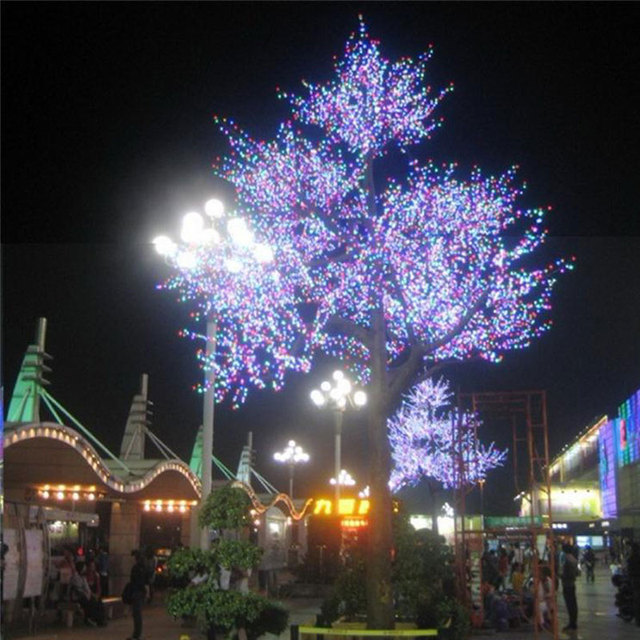 7.0Meter 9360LEDS artificial christmas trees with outside tree lights
