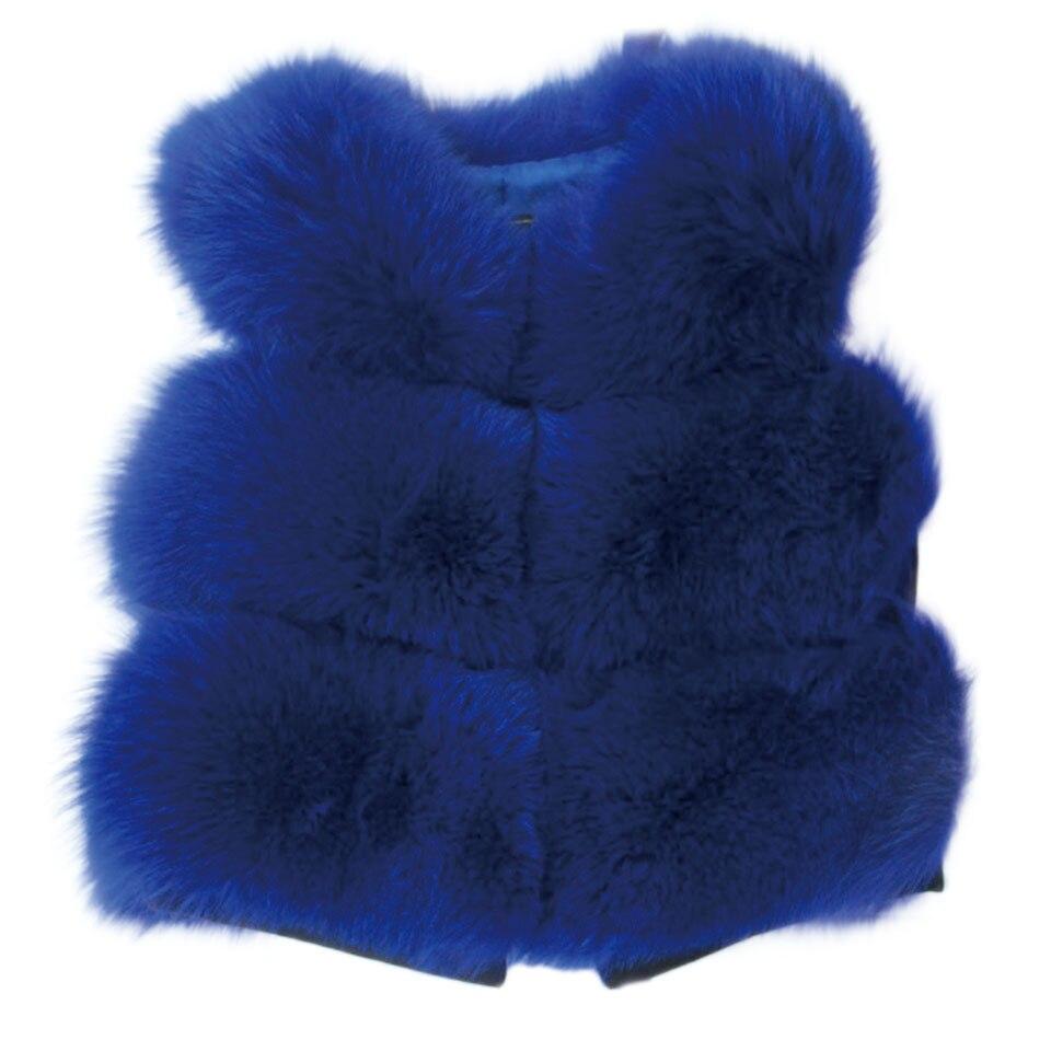Новинка 2017 года дети натуральным лисьим Мех животных жилет зимний теплый Жилет для девочек короткие толстые Теплые жилеты детская верхняя