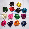 200pcs DIY Findings Jewelry Accessory 8MM Natural Wooden Beads Round Shape Bracelet Making Departments 14 Different Colors
