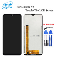 WEICHENG Top Quality 6.1 inch for Doogee Y8 LCD Display and Touch Screen Assembly Repair Part Mobile Accessories +Free Tools
