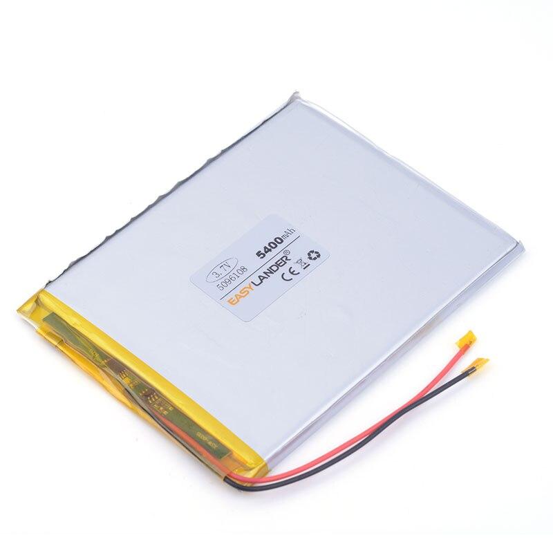 3.7 V lithium polymer battery 5096108 5400 mah large-capacity PDA tablet PC MID IPAQ MID pad laptop 0596108