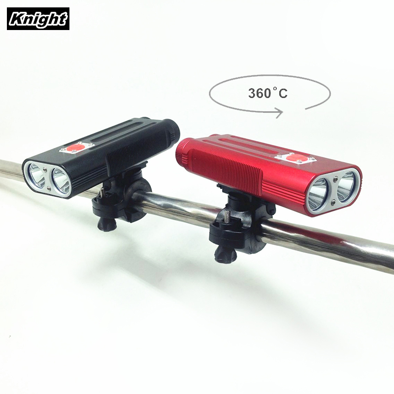 Bicycle Light Cree XM-L 2T6 LED 5000 Lumen 7 Switch Modes flashlight  2x18650 Battery with Charger от Aliexpress INT