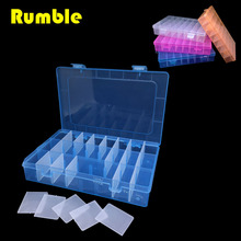 1pcs 24 Grid Cell Slots Adjustable Storage Tool Box Case Electronic Screw Jewelry SMD Fishing Bead Rings Spare Part Container
