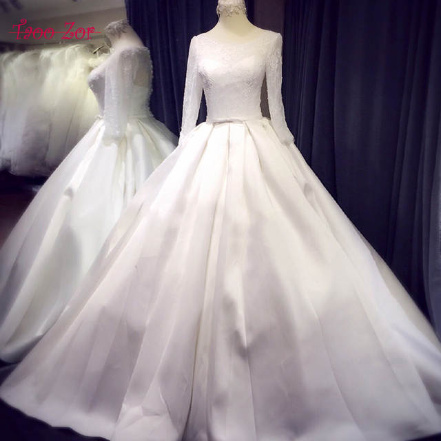 Classic Satin Wedding Dress