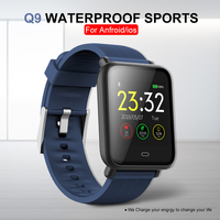 Q9 Waterproof Sports Smart Watch Fitness Trakcer Blood Pressure Heart Rate Monitor Smartwatch For Android / IOS