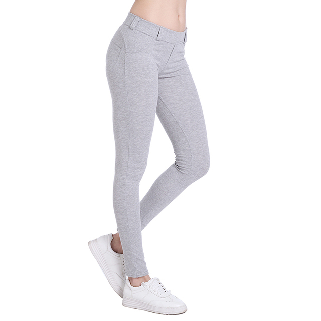Leggings Push Up Sexy Hip Solid