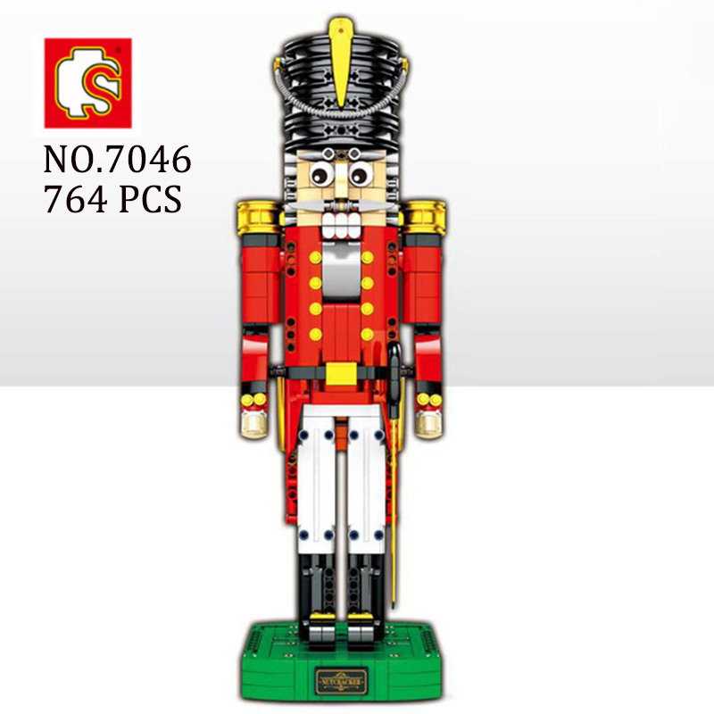 Moc Nutcracker Employee fit  technic city 4002017 Building Blocks Bricks Educational Toys Model Christmas kid GiftsMoc Nutcracker Employee fit  technic city 4002017 Building Blocks Bricks Educational Toys Model Christmas kid Gifts
