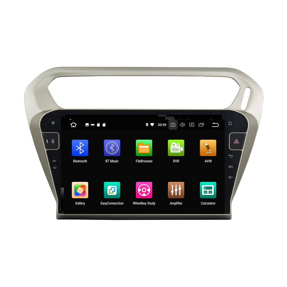 """Best 10.1"""" Octa Core Android 9.0 8 core 64G ROM 4G RAM Car DVD Player for Peugeot PG 301 2013-2016 Citroen Elysee GPS Radio 1"""
