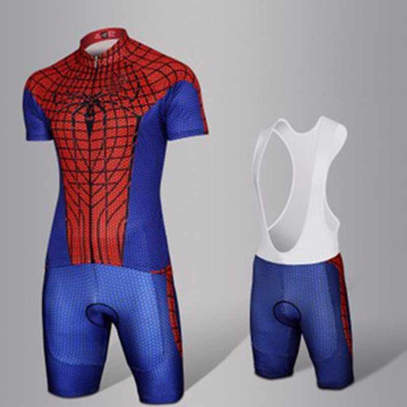 Summer Spiderman Cycling Set Bicycle Jerseys Breathable Mountain Bike  Clothing Maillot Ropa Ciclismo Cycling Jersey Set eddbbbeb9