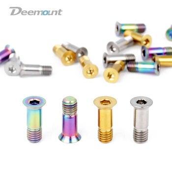 Deemount 2 шт./лот титановые болты M5 * 14,2 мм, Шестигранная головка для велосипеда, задний переключатель, крюк, колесо, шкив, крепление, велосипедны...