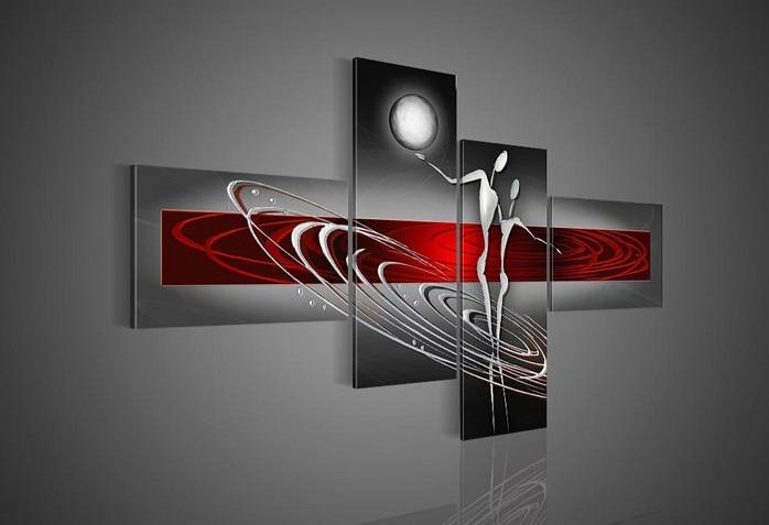 schwarz weiß rot kunst-kaufen billigschwarz weiß rot ... - Wohnzimmer Rot Schwarz Weis
