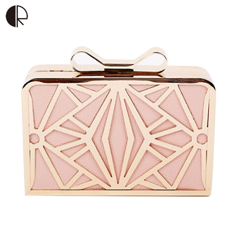 2018 New Fashion Women Handbags Metal Patchwork Shinning Shoulder Bag Ladies Pink Day Clutch Wedding Party Evening Bags Mini Bag