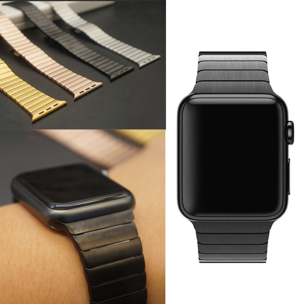 Браслет из нержавеющей стали и роскошный металлический ремешок из нержавеющей стали для apple watch All Series 42 мм 38 мм сменный ремешок для часов