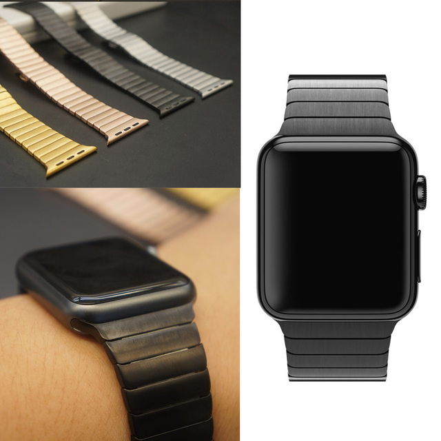 Stainless Steel link bracelet band & Luxury stainless Metal strap for apple watch All Series 42mm 38mm Replacement Watchband