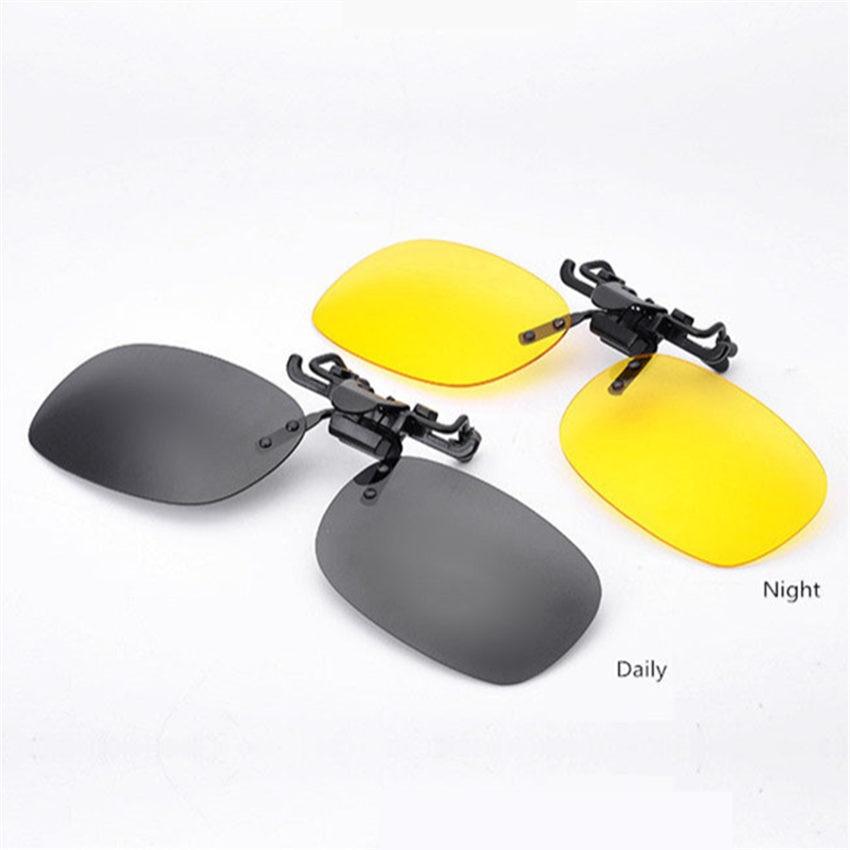 High quality Day and Night Men Women Driving Polarized Clip on Sunglasses Myopia Glasses Men Brand Flip Up Sun Glasses UV400