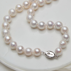 Image 5 - ASHIQI 10 12mm duża naturalna perła słodkowodna naszyjnik dla kobiet prawdziwa 925 Sterling srebrna zapinka biała okrągła perła biżuteria prezent