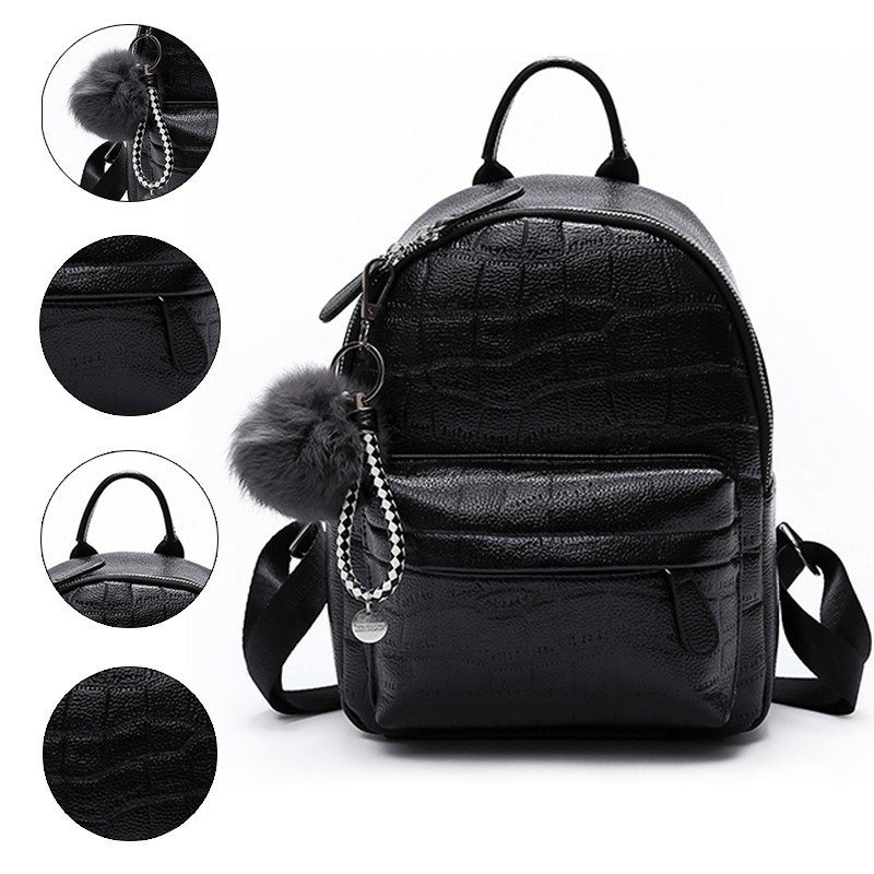 Mini Backpack Women PU Leather Cute Small Female Backpack White Back Pack Black Backpacks For Teen Girls Fashion Bagpack Woman