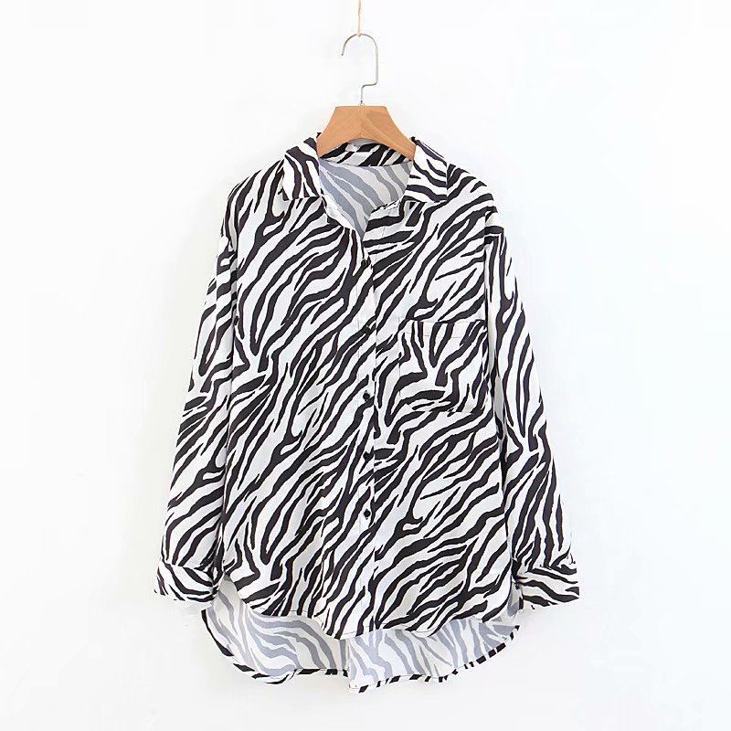 e0ac114024 Detail Feedback Questions about women vintage zebra striped print casual  loose smock blouse shirt women fashion long sleeve chic blusas femininas  tops ...