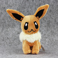 Hot 20cm Anime Character Eevee Plush Toys Kawaii Eevee Genius Soft Stuffed Animals Doll for Kids Toys Children Birthday Gift