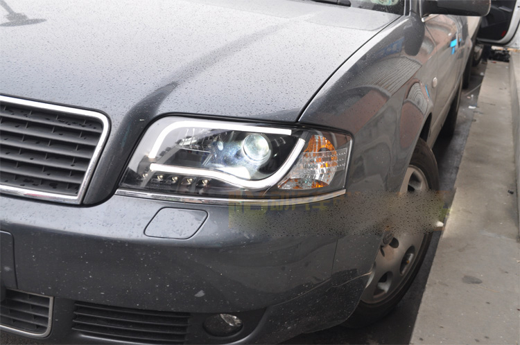 Бампер лампа для 2 шт. фары A6 1999 ~ 2001/2002 ~ 2004 автомобильные аксессуары, a6 автомобильные светодиодный фары светодиодные дневные ходовые огни