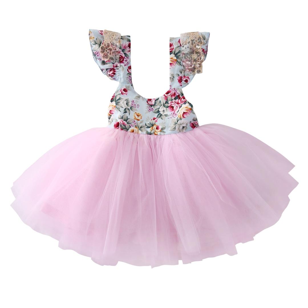 0d2522fdb Flower Toddler Girls Dress Cute Kids Baby Floral Princess Dress Lace ...