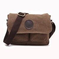 2015 New Fashion Men Vintage Canvas School Messenger Bag Satchel Brand Military Men Laptop Shoulder Messenger