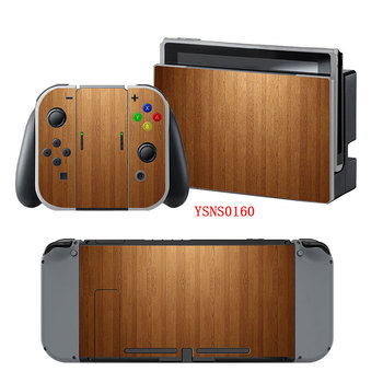 Wood Grain New Vinyl Waterproof Matte Sticker Decal Skin For Nintendo Switch Console Accessories