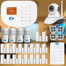 Etiger WIFI/GSM Sistema de Alarma para la Seguridad Casera Interder + cámara IP CCTV Casa Inteligente